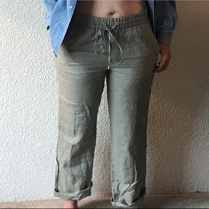 Ellen Tracy linen trousers